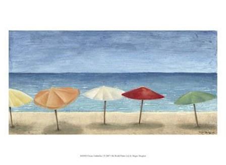 Ocean Umbrellas I by Megan Meagher art print