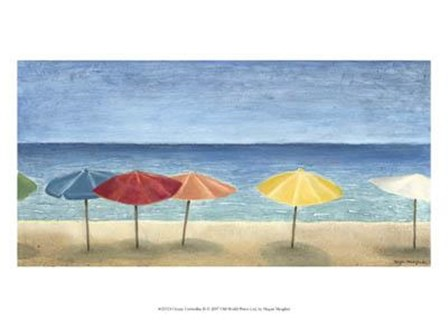 Ocean Umbrellas II by Megan Meagher art print