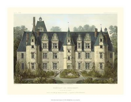 Petite French Chateaux III by Victor Petit art print