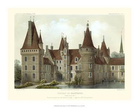 Petite French Chateaux IV by Victor Petit art print