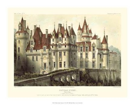 Petite French Chateaux VII by Victor Petit art print