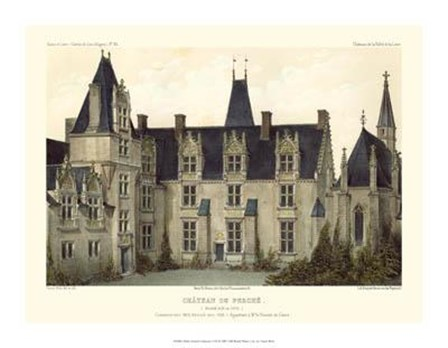 Petite French Chateaux VIII by Victor Petit art print