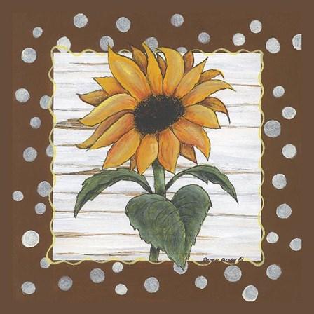 Polka Dot Sunflower by Bonnee Berry art print