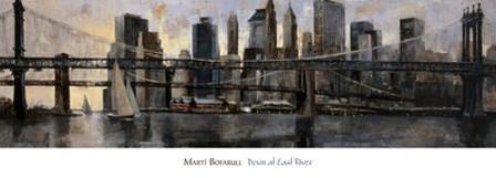 Down at East River by Marti Bofarull art print