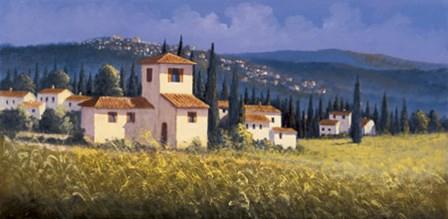 Hillside Village by David Short art print