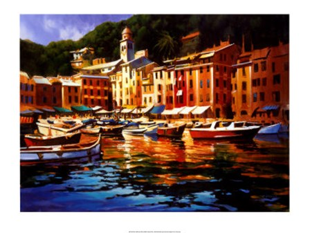 Portofino Colors by Michael O'toole art print