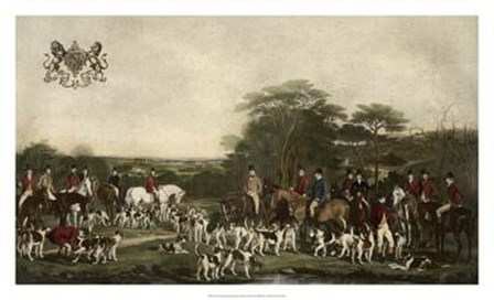 Sir Richard Sutton and The Quorn Hounds by Gordon Grant art print