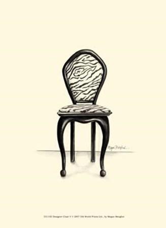 Designer Chair V by Megan Meagher art print