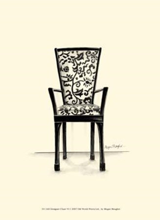 Designer Chair VI by Megan Meagher art print