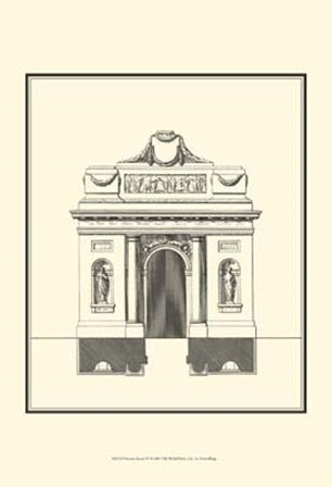 Bandw Parisian Facade IV art print