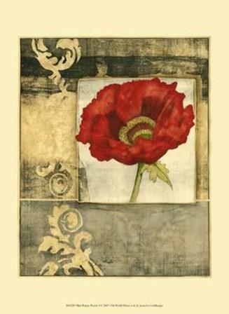 Mini Poppy Poetry I by Jennifer Goldberger art print