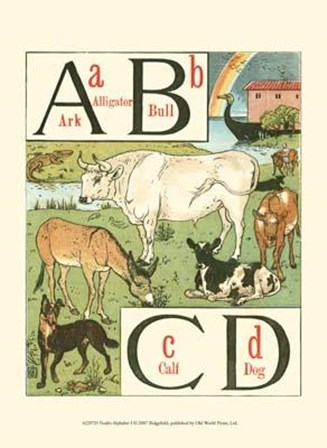 Noah's Alphabet I by Walter Crane art print