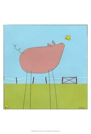 Stick-Leg Pig I by June Erica Vess art print