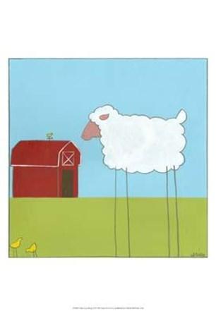 Stick-Leg Sheep II by June Erica Vess art print