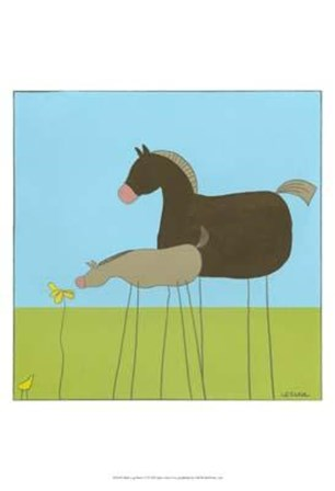 Stick-Leg Horse II by June Erica Vess art print
