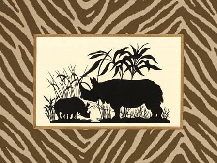 Serengeti Silhouette II by Sarah Elizabeth Chilton art print