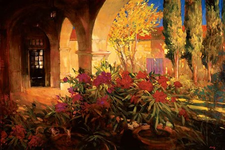 Twilight Courtyard by Philip Craig art print