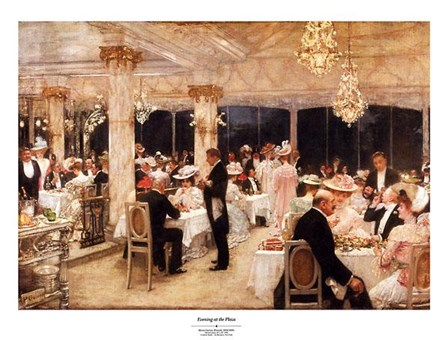 Evening At The Plaza by Henry Gervex art print