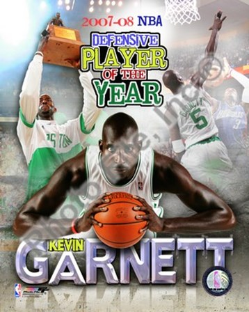 Kevin Garnett - 2008 Defensive Player of the Year; Portrait Plus art print