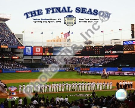 "Yankee Stadium 2008 Opening Day With Overlay ""The Final Season"" art print"