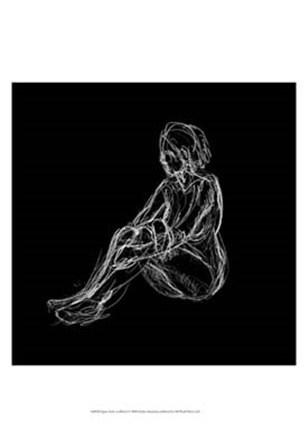 Figure Study on Black I by Charles Swinford art print
