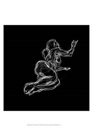 Figure Study on Black IV by Charles Swinford art print