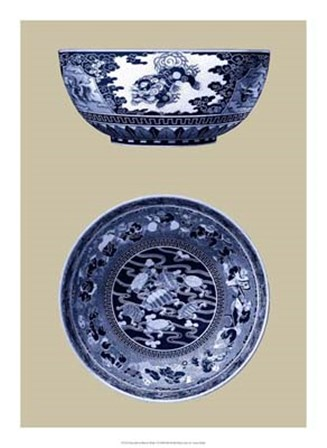 Porcelain in Blue and White I by Vision Studio art print