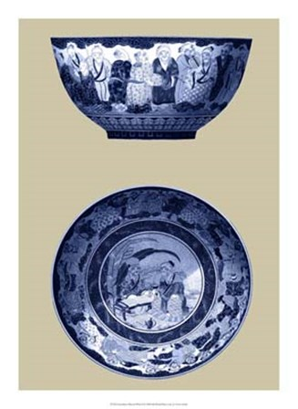 Porcelain in Blue and White II by Vision Studio art print