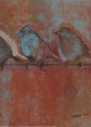 Row of Sparrows I by Norman Wyatt Jr. art print
