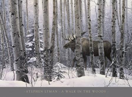 A Walk in the Woods by Stephen Lyman art print