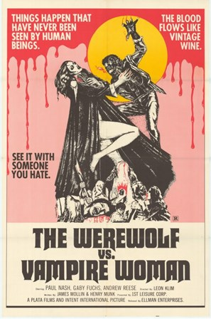 Werewolf vs. the Vampire Women art print