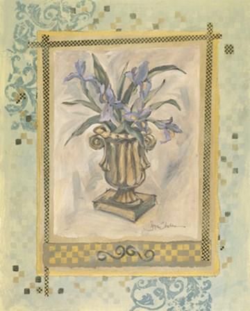 Iris Still Life Composition by Joyce Shelton art print