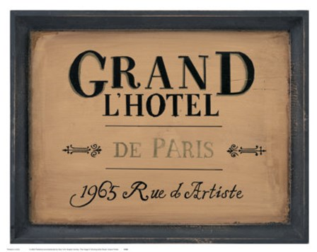 Grand l'Hotel by Working girls studio art print