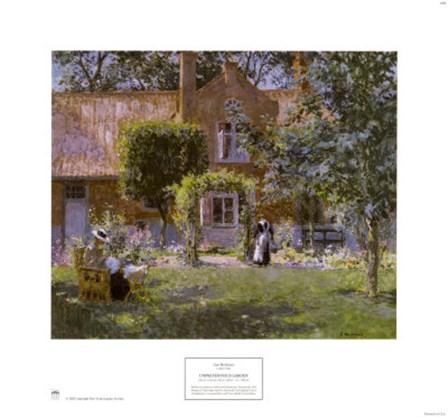 Unpretentious Garden by Gari Melchers art print