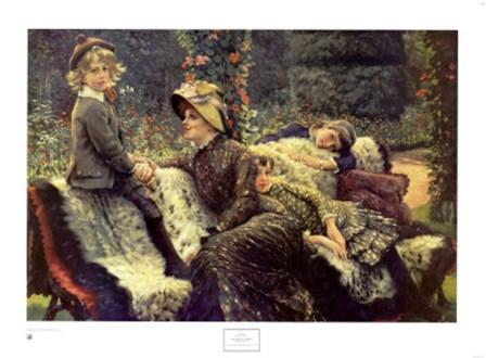 The Garden Bench by James Jacques Joseph Tissot art print