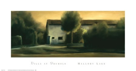 Villa at Grumolo by Mallory Lake art print