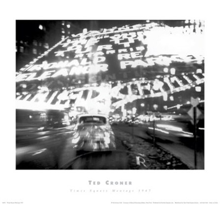 Times Square Montage 1947 (small) by Ted Croner art print
