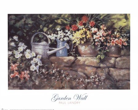Garden Wall by Paul Landry art print