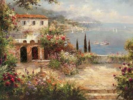 Mediterranean Villa by Peter Bell art print