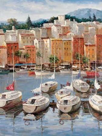 Terracotta Harbor by Furtesen art print