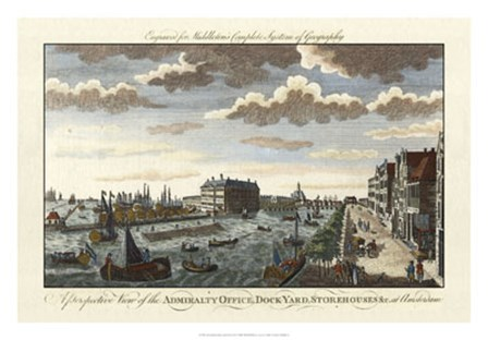 Amsterdam Harbor & Dock-yard by Charles Theodore Middleton art print