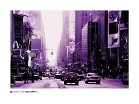 Manhattan - purple street view art print