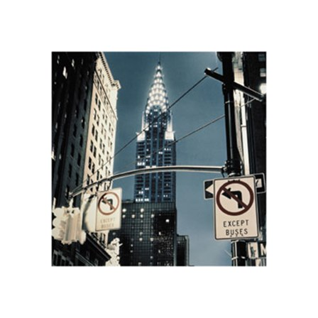 Manhattan - no turn signs art print