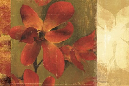 Crimson Garden by Asia Jensen art print