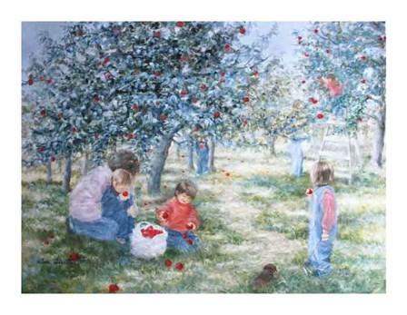 Picking Apples by Huibregtse art print