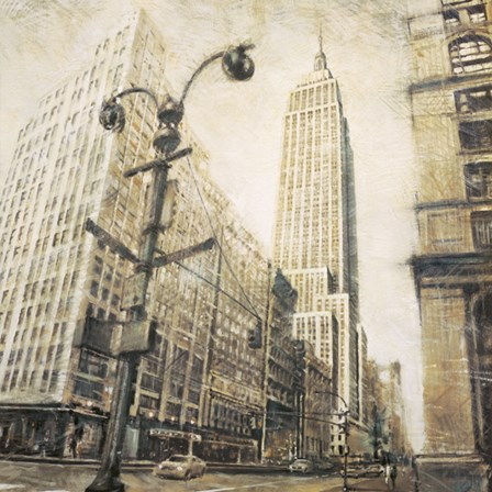 Empire State Building from Madison Ave. by Matthew Daniels art print