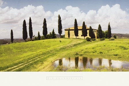 Tuscan Hillside by Jim Chamberlain art print