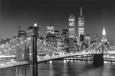 New York, New York, Brooklyn Bridge by Henri Silberman art print