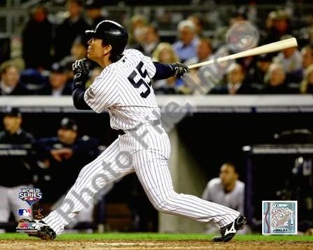 Hideki Matsui Game 2 of the 2009 World Series Home Run (#7) art print