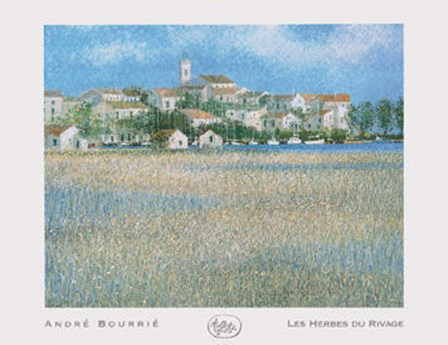 Les Herbes Du Rivage by Andre Bourrie art print